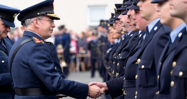 Garda Commissioner & new Garda Trainees